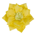 Paper flower with hanger Ø30cm Color: yellow