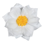 Paper flower with hanger Ø30cm Color: white