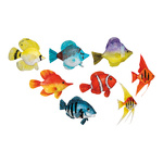 Tropical fish set of 8, with hanger 12 bis 15cm Color:...