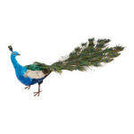 Peacock 2-parted, styrofoam with feathers 50x130cm Color:...