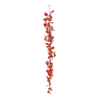 Vine leaf garland artificial silk 180cm Color: red