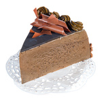Chocolate cake slice  10cm Color: brown