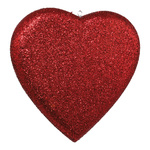 Heart with glitter, styrofoam 20cm Color: red