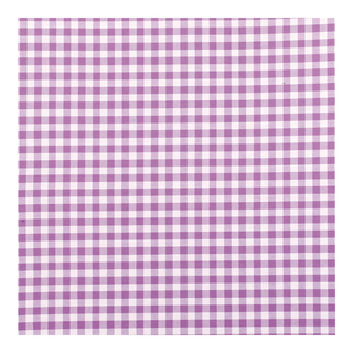 Cotton with check pattern minimum purchase quantity 30m, weight ca. 160 g/m² 140cm Color: purple/white
