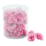Rose heads 48pcs./blister, artificial silk Ø 4cm Color: pink