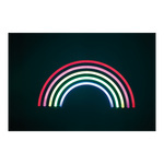 LED motive »rainbow« with eyelets to hang, 2m power cord,...