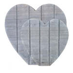 Hearts self-standing, set of 2, made of wood 30x30cm,...