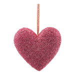 Heart with hanger covered with glitter fabric, made of...