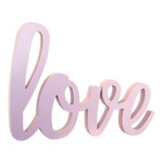 Love-lettering self-standing, made of wood 60x40cm Color:...