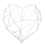 Contour heart of metal, with eyelets to hang 50x50cm...