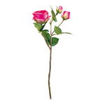 Rose 3-fold, one flower head & two buds, artificial 46cm...