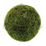 Natural wicker ball with artificial moss Ø: 25cm Color:...