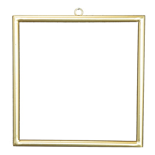 Metal frame squared, with hanger, to decorate 30x30cm Color: gold