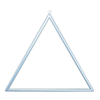 Metal frame triangular, with hanger, to decorate 45x45cm Color: silver