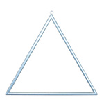 Metal frame triangular, with hanger, to decorate 45x45cm...