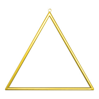 Metal frame triangular, with hanger, to decorate 45x45cm Color: gold