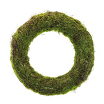 Natural wicker wreath with artificial moss Ø: 50cm Color:...