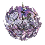 Butterfly ball with hanger, made of paper Ø: 28cm Color:...