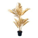 Palm in pot, artificial 90cm Color: gold