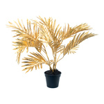 Palm in pot, artificial 50cm Color: gold