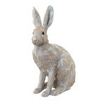 Rabbit sitting, made of artificial resin H: 40cm, L: 28cm...
