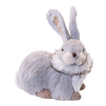 Rabbit sitting, made of styrofoam & synthetic fibre H:...