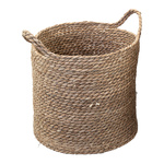 Wicker basket made of dried sea grass Ø: 31cm, H: 30cm...