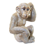 Monkey sitting, made of artificial resin H: 32cm, L: 22cm...