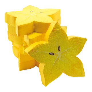Star fruit slices set of 6, made of hard foam Ø: 10cm Color: yellow