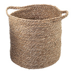 Wicker basket made of dried sea grass Ø: 33cm, H: 35cm...