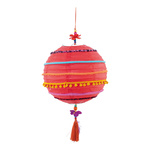 Paper lantern decorated, with hanger H: 65cm Color:...