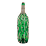 Bottle message with cork decorated with rope, made of...