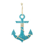 Anchor with rope hanger, made of wood H: 50cm, W: 36cm...