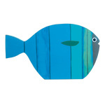 Fish self-standing, printed, made of wood 50x30cm Color:...