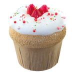 Strawberry cupcake XL, made of hard foam H: 18cm Color:...