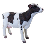Cow standing, made of artificial resin L: 42cm, H: 31cm...