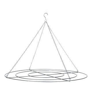Grating rings 3-fold, with chain to hang, for presenting decoration Ø40, 60 & 80cm Color: silver
