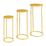 Metal tables round, set of 3, powder coated, nested...