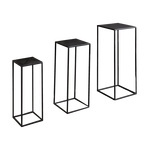 Metal tables squared, set of 3, powder coated, nested...