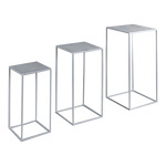 Metal tables rectangular, set of 3, powder coated 1....