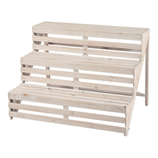 Wooden stair 3 steps, for decoration purposes only 65x53cm Color: white