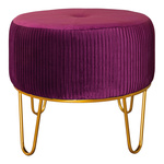 Velvet chair 4-legged 50x50x41cm Color: red/gold