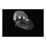 Acrylic raffle box half-sphere, with top plate & stand...