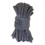 Velvet cord  L: 8m, W: 7mm Color: grey