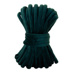 Velvet cord  L: 8m, W: 7mm Color: dark green