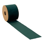Velvet ribbon  L: 8m, W: 70mm Color: dark green