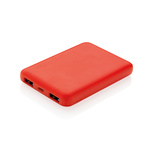 High Density 5.000 mAh Pocket Powerbank Farbe: rot