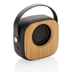 Bambus 3W Wireless Fashion Speaker Farbe: schwarz