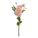 Rose sprig, 3-fold  62cm Color: pink