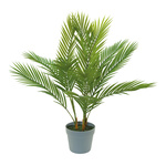 Palm tree in pot, 12-fold, made plastic H: 75cm Color: green